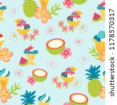 print summer pattern vector... | Shutterstock .eps vector #1178570317