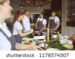 chef and group of young people... | Shutterstock . vector #1178574307