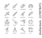 set of 16 simple line icons... | Shutterstock .eps vector #1178578471
