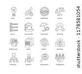 set of 16 simple line icons... | Shutterstock .eps vector #1178581054