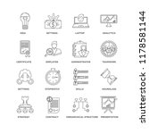 set of 16 simple line icons... | Shutterstock .eps vector #1178581144