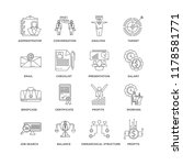 set of 16 simple line icons... | Shutterstock .eps vector #1178581771