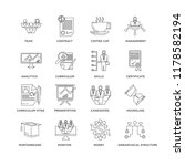 set of 16 simple line icons... | Shutterstock .eps vector #1178582194