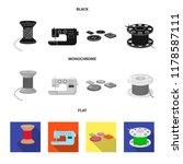thread reel  sewing machine ... | Shutterstock .eps vector #1178587111