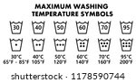 laundry washing symbols  icons...   Shutterstock .eps vector #1178590744