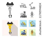vector illustration of robot... | Shutterstock .eps vector #1178594824