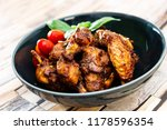delicious fried chicken wings... | Shutterstock . vector #1178596354