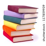 old colorful books isolated on... | Shutterstock . vector #117859939