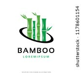bamboo logo template design... | Shutterstock .eps vector #1178601154