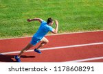 athlete run track grass... | Shutterstock . vector #1178608291