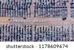 new cars from the car factory... | Shutterstock . vector #1178609674