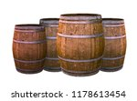 old oak barrel aging wines... | Shutterstock . vector #1178613454
