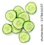 Fresh Cucumber Slices  Isolated ...