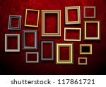 picture frame vector. photo art ... | Shutterstock .eps vector #117861721