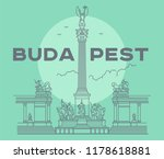 heroes's square in budapest... | Shutterstock .eps vector #1178618881