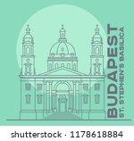 st stephen's basilica in...   Shutterstock .eps vector #1178618884