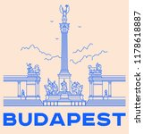 heroes's square in budapest... | Shutterstock .eps vector #1178618887