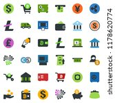 colored vector icon set  ... | Shutterstock .eps vector #1178620774