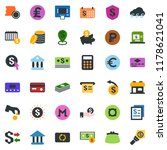 colored vector icon set  ... | Shutterstock .eps vector #1178621041