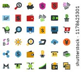 colored vector icon set  ... | Shutterstock .eps vector #1178625301