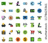 colored vector icon set   safe... | Shutterstock .eps vector #1178625361