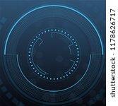 sci fi futuristic user... | Shutterstock .eps vector #1178626717