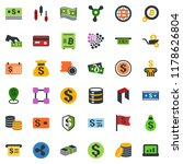 colored vector icon set  ... | Shutterstock .eps vector #1178626804