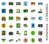 colored vector icon set  ... | Shutterstock .eps vector #1178626831