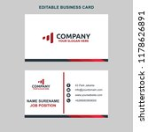 white simple business card | Shutterstock .eps vector #1178626891