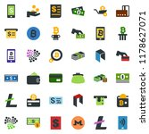 colored vector icon set  ... | Shutterstock .eps vector #1178627071