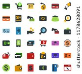 colored vector icon set  ... | Shutterstock .eps vector #1178628091