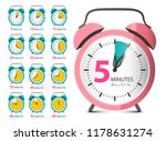 alarm clock set. retro vector... | Shutterstock .eps vector #1178631274