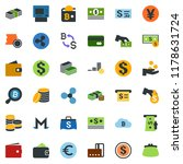 colored vector icon set  ... | Shutterstock .eps vector #1178631724
