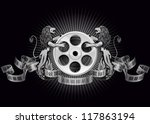 film reel with lions  eps 10 ...   Shutterstock .eps vector #117863194