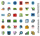 colored vector icon set  ... | Shutterstock .eps vector #1178633251