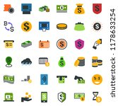 colored vector icon set  ... | Shutterstock .eps vector #1178633254