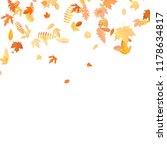 autumn background with golden...   Shutterstock .eps vector #1178634817