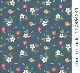 seamless tiny floral pattern on ... | Shutterstock .eps vector #117864241
