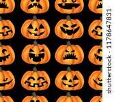 halloween seamless pattern with ... | Shutterstock .eps vector #1178647831