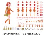 attractive red haired lady... | Shutterstock .eps vector #1178652277