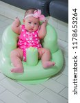 innocent little baby is sitting ... | Shutterstock . vector #1178653264