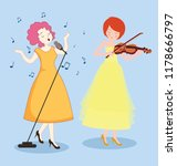 female singer icons colored... | Shutterstock . vector #1178666797