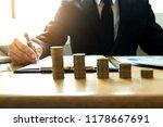 businessmen calculate... | Shutterstock . vector #1178667691