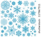 snowflakes christmas vector... | Shutterstock .eps vector #117867511