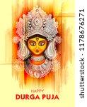 illustration of goddess durga... | Shutterstock .eps vector #1178676271