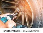 hand people using mechanic... | Shutterstock . vector #1178684041