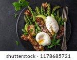 asparagus  avocado  poached egg ...   Shutterstock . vector #1178685721