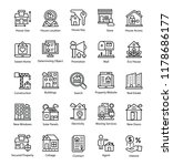 collection of real estate line...   Shutterstock .eps vector #1178686177