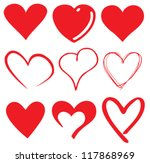 cute heart   t shirt graphics | Shutterstock .eps vector #117868969