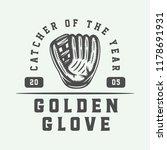 vintage baseball sport logo ... | Shutterstock .eps vector #1178691931